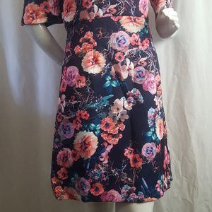 Betsey Johnson Dresses - Betsey Johnson Scuba Midi Floral Dress Size 8
